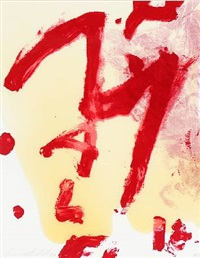 abstract composition by julian schnabel
