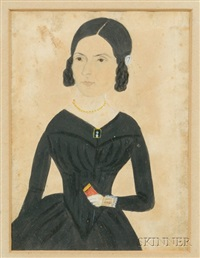 young woman holding a red book by jane anthony davis