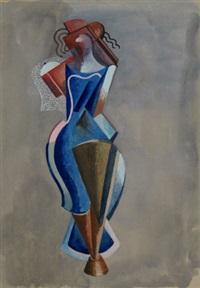 stylized standing figure by alexander archipenko