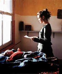 woman reading a repossession order by tom hunter