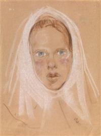 portrait of a girl by nikolai pavlovich akimov
