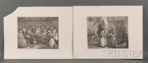 a harlot's progress, plates 1 - 6 from the works of william hogarth by william hogarth
