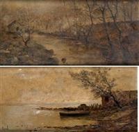 paisajes lacustres (pair) by manuel ramos artal