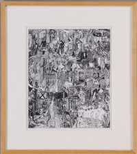 collage #2, trops de bon chose by jim shaw