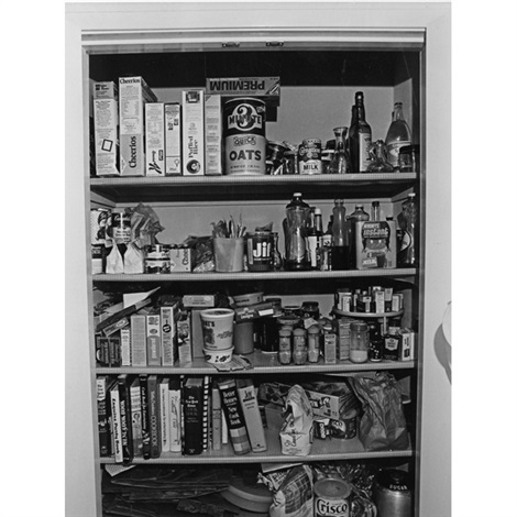 untitled (open pantry joy of cooking) by bill owens