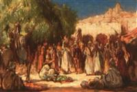 fête sur le marché de bou saâda by walter follen bishop