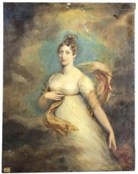 portrait of princess charlotte, the daughter of king george iv by george dawe