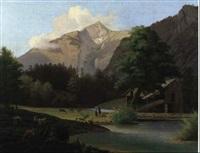 sommernachmittag am muhlbach by joseph roedler