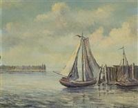 fischerboote im hafen by leopold hauer