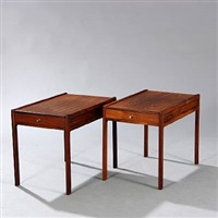 (model no. 6) side tables (pair) by helge vestergaard jensen