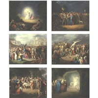 scenes from the passion of christ (set of 12) by jules claude ziegler