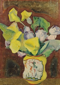 still life with calla lilies by jane peterson