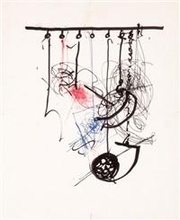 skizzenblatt für eine installation by jean tinguely