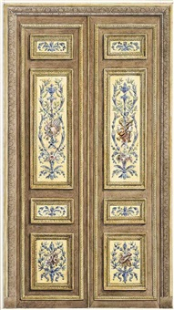 design for a door; two ceiling designs (3 works) by edmond collignon