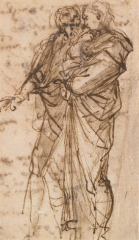 two standing figures by salvator rosa