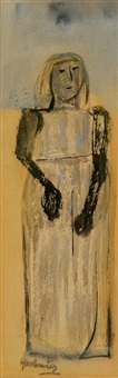 untitled (figure of a woman) by leonidas gambartes