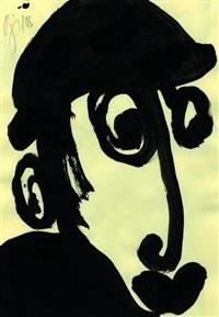 ohne titel - männerkopf (+ lilo; 2 works) by peter krüger