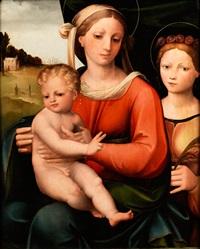 maria mit kind und weiblicher heiligen by innocenzo di pietro (da imola) francucci