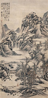 hermits in mountain by luo xuan
