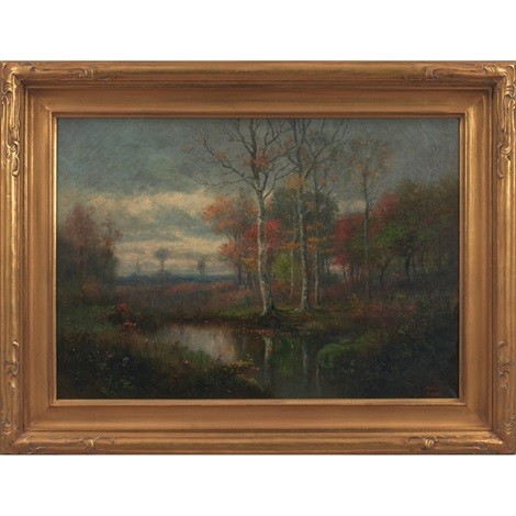 landscape with stream by george ernest colby