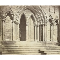 litchfield: porch of the south transept by roger fenton
