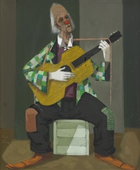 gitarrspelande clown by pelle aberg