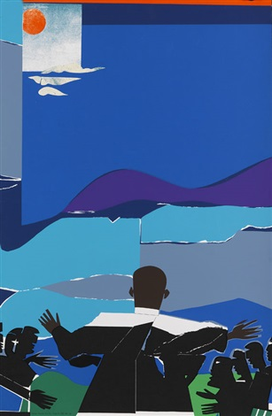 martin luther king jr mountain top by romare bearden