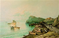 coastal scene by corrini
