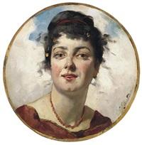 porträt einer dame mit hochgestecktem haar by nel (nelius) grönland