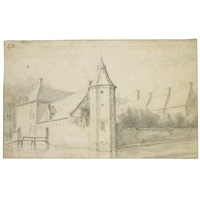 view of castle blootinge, near the hague by roelant roghman