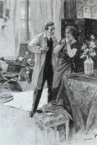 der maler und sein modell in einem salon by john william gott