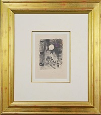 brown still life by marc chagall