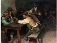 bärtige bauern beim kartenspiel by wilhelm smith