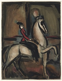 amazone (from cirque) by georges rouault