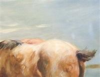 abend am see (drei pferde) by heinz dullberg