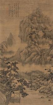 pavilion under pine by zhong yin