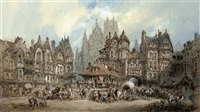 market day, rouen by paul marny