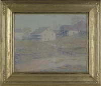 landscape with farm by charles schell corson