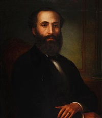 portrait of a man by bernardo amigoni