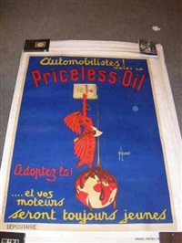 priceless-oil (poster) by h. de laurencin