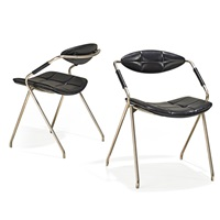 rugby side chairs (pair) by gilbert steiner