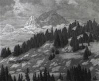 schneeschmelze am gielbach by franz fiechter