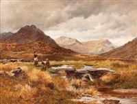 view of the old coach road - capel curig, wales by david bates