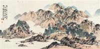遥上怀古 (landscape) by liu tongcheng
