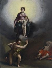 vision des heiligen hieronymus by parmigianino