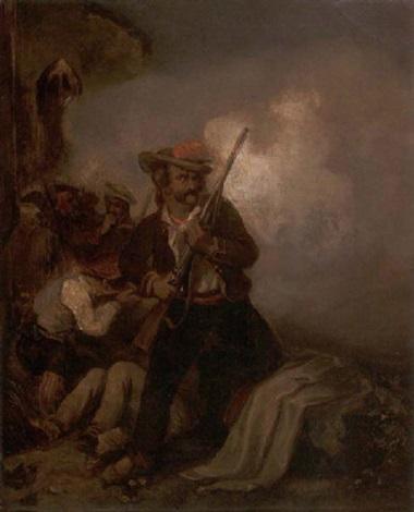 ungarische infanteristen im gefecht by friedrich (fritz) l' allemand