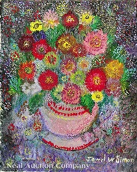 still life of flowers by jewel alma woodard simon