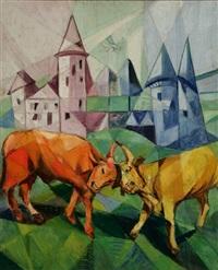 bulls by jeanne rij-rousseau