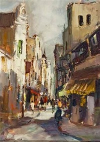 a cape street scene by christiaan nice