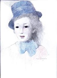 jeune fille au chapeau by marie laurencin